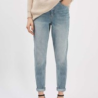 PETITE MOTO Bleach Mom Jeans - Jeans - Clothing