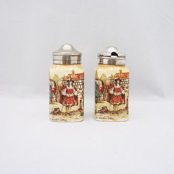 Vintage L&S Ltd Sandland  Salt Shaker and Mustard Pot, Staffordshire Salt Shaker and Mustard Pot, Salt Shaker and Mustard Pot, Silver Plated