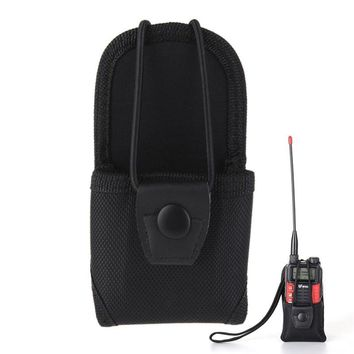 Walkie Talkie Accessories bag Nylon Carry Case for Baofeng radio 888s two way radio (Color: Black)