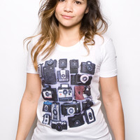 21 Color Cameras T-shirt White