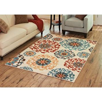 Better Homes and Gardens Suzani Area Rug, Multi-Colored - Walmart.com