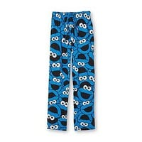 Sesame Street Men's Drawstring Pajama Pants - Cookie Monster