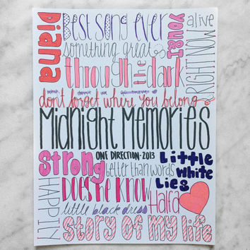 Midnight Memories One Direction Collage