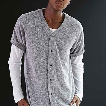 Shades Of Grey By Micah Cohen Speckled Baseball Jersey- Charcoal