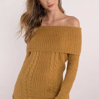 Natasha Off Shoulder Sweater Dress