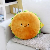 "Hamburger Plush Cushion 16"" Cotton Food Figure Toy Doll King Burger Kawaii Cute Decoration Good Gift for Every Special Day"