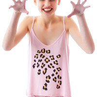 Wildfox Couture Leopard Print Cami Set Meow