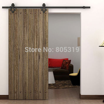 6.6Ft American Style Sliding Barn Door Hardwareblack