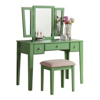 Vanity Table Set Green