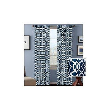 Bh&G Indigo Ironwork Curtain Panel 52 X 63