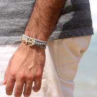 Men's Bracelet - Men's Anchor Bracelet - Men's Gray Bracelet - Mens Jewelry - Bracelets For Men - Jewelry For Men