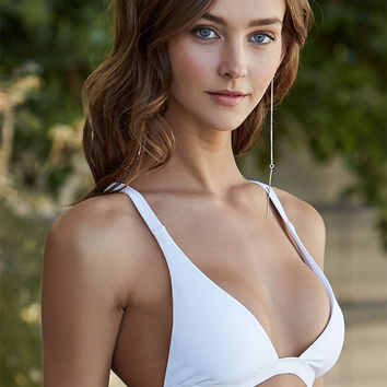 LA Hearts Lace-Up Back Bralette Bikini Top at PacSun.com