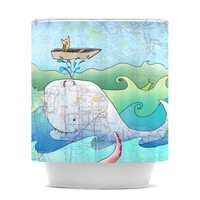 "Catherine Holcombe ""I'm on a Boat"" Shower Curtain"