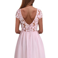 Shelly Lace Pleated Dress