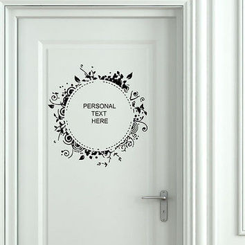Wall Mural Vinyl Decal Sticker Sign Door Frame Personalized Text Name AL277