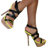 Pawi (Black/Yellow)-Great Glam is the web's best online shop for trendy club styles, fashionable party dresses and dress wear, super hot clubbing clothing, stylish going out shirts, partying clothes, super cute and sexy club fashions, halter and tube tops
