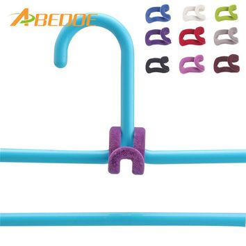 Clothes Hanger Hook add-on/10pc-set/Closet Organizer for wardrobe/Laundry Room space-saver