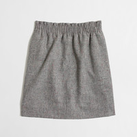 Factory pleated mini in flecked wool : Skirts | J.Crew Factory