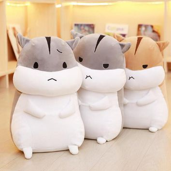 1pcs 40cm cute fat hamster plush doll stuffed animal toys Meng pet rat pillow Children's Day birthday gift