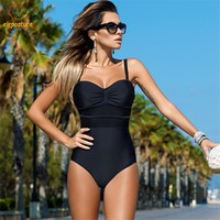 2018 Sexy One Piece Swimsuit Women Swimwear Push Up Swimsuit Bathing Suit Plus Size Swimwear Monokini Mesh Beach Wear Bodysuit