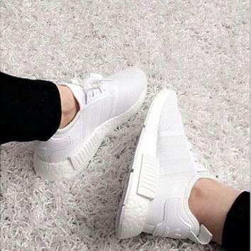 DCCKG6WU ADIDAS Women Running Sport Casual Shoes NMD Sneakers White