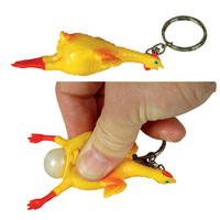 Chicken Keychain with Pop Out Egg