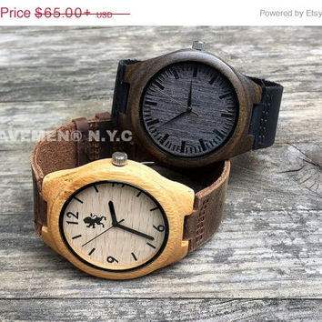 8c387bb349004 SALE Personalized Minimalist Engraved Wooden Watch Wedding Gift