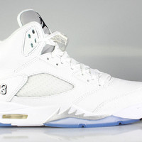 Air Jordan Men's Retro 5 V White Metallic Silver