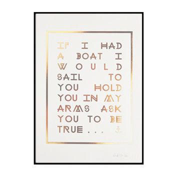if I had a boat / edition print
