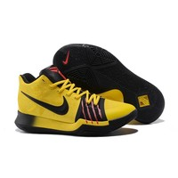 Best Deal Online Nike Kyrie Irving 3 PE Men Basketball Sneaker Bruce Lee Black Gold Red Sports Shoes AJ1692-700