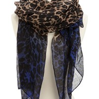 Ombre Leopard Print Scarf: Charlotte Russe