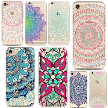 Paisley Flower Mandala Boho Chic Case for iPhone 7