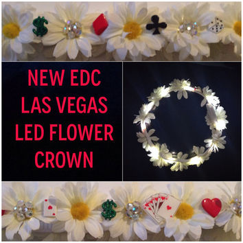EDCLV LED flower crown For music festivals raves EDM