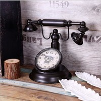 Vintage Phone Living Room Home Decor Coffee House Decoration Clock [6282680198]