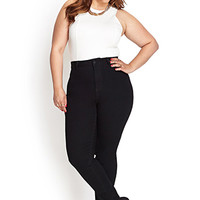 FOREVER 21 PLUS High-Waisted Skinny Jeans (Regular)