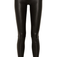 Helmut Lang | Stretch-leather leggings-style pants | NET-A-PORTER.COM