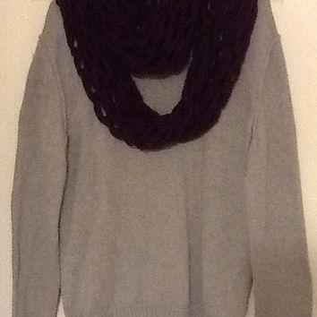 Warm and cozy arm knit scarf, pick your color