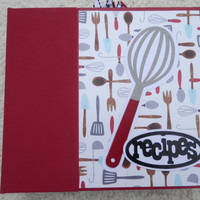 6x6 Red Blue and Black Recipe Scrapbook