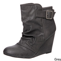 Madden Girl Women's 'Vermonnt' Wedge Booties | Overstock.com