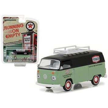 "1979 Volkswagen Type 2 Panel Van Texaco ""Running on Empty\"" Series 3 1/64 Diecast Model Car by Greenlight"