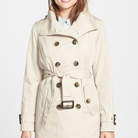 Women's London Fog Double Breasted Trench Coat with Detachable Liner (Online Only)