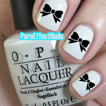 Black Bow Nail Decals