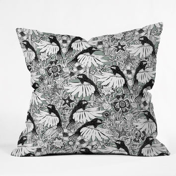 Sharon Turner Hummingbird Heaven Silver Throw Pillow