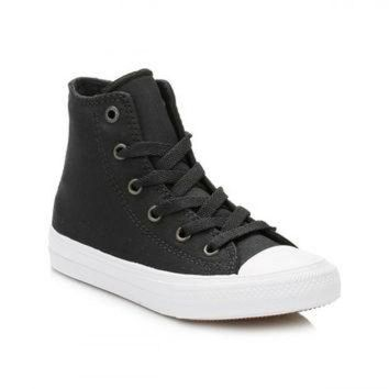CREYUG7 Converse All Star Chuck Taylor II Junior Black/White Hi Top Trainers