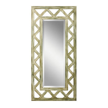 Kichler 78135 Lattice Weathered Wood Hand Painted Mirror