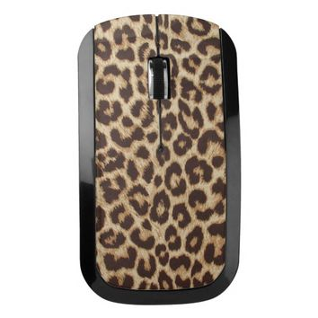 Leopard Print Wireless Mouse