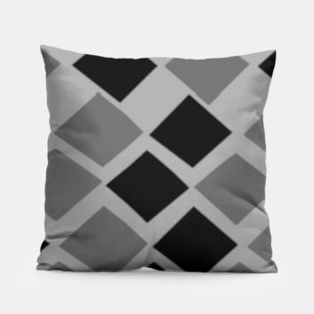 black and gray diamond pillow, Live Heroes