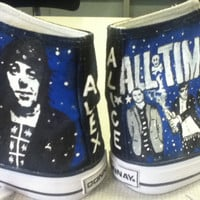 Hand Painted Hi Tops All Time Low