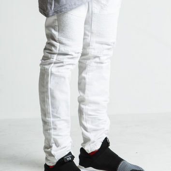 Daytona Biker Denim (White) – Embellish NYC