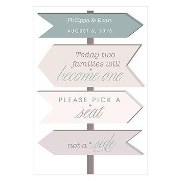 Wanderlust Pick A Seat Directional Poster Sign Ivory (Pack of 1)